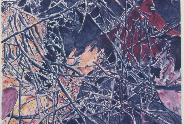 """The Loss of Trust, watercolor, 26"""" x 37"""", 1993"""