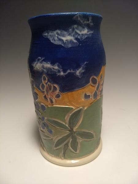 Bud vase, Bluebonnet SOLD