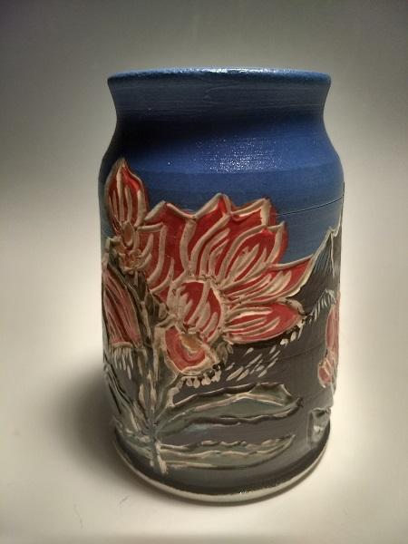 Bud vase, Indian Paintbrush $45
