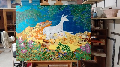"Untitled work in progress, 36"" x 48"" 2015"