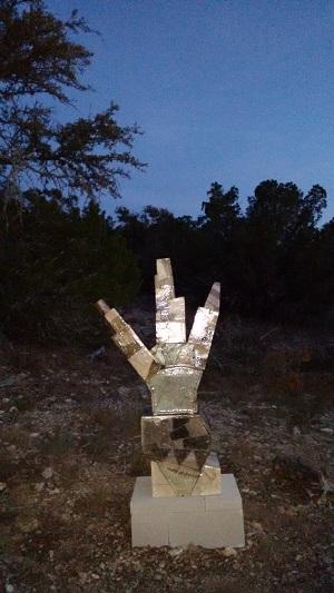 Standing Figure sunset wb